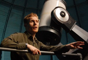 Cameron Hummels in the Columbia University observatory in New York, 2009. First published by Science Careers.