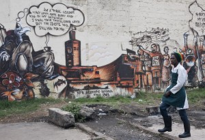 Political graffiti in Nairobi. Photo: Mike Elkin