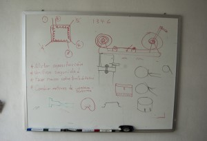 Plans at the FabLab in Oaxaca, Mexico.