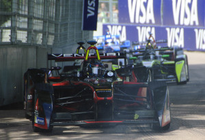 Formula E drivers race in London, UK. First published by IEEE Spectrum.